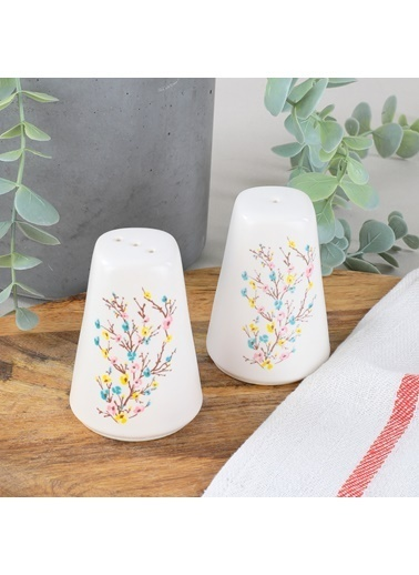 Keramika Keramika İlkbahar Tomurcuk Tuzluk Biberlik Renkli
